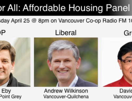 Affordable Housing Panel – BC Green, BC Liberal, BC NDP